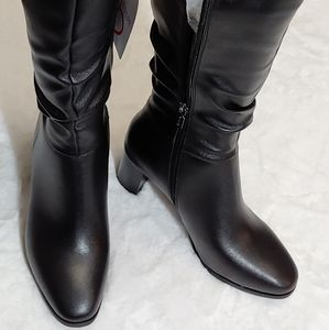 BNWT BLONDO SOPHIE BLACK ECO LEATHER TALL BOOT 9.5